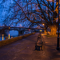 Buy canvas prints of Kew bridge early morning by mike cooper