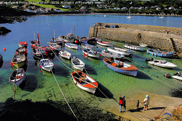 Coverack Harbour in the Summer Canvas print by Philip Hodges aFIAP ,
