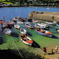 Buy canvas prints of  Coverack Harbour in the Summer by Philip Hodges aFIAP ,