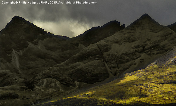 The Black Cuillins of Skye Canvas print by Philip Hodges aFIAP ,