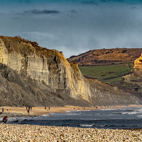 Buy canvas prints of Charmouth to Golden Cap by Philip Hodges aFIAP ,