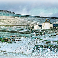"""Buy canvas prints of """"Farmhouse in Teesdale"""" by ROSALIND RIDLEY"""