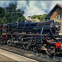 """Buy canvas prints of """"Locomotive 5428 train and tender"""" by ROSALIND RIDLEY"""