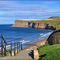 "Buy canvas prints of ""Saltburn-by-the-sea"" by ROSALIND RIDLEY"