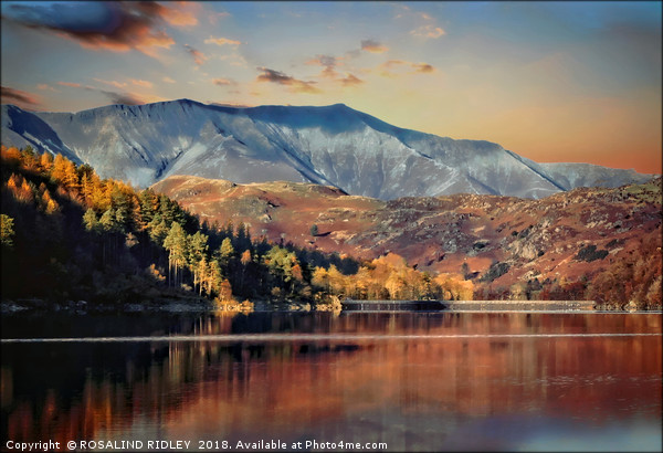 """Autumn evening Blencathra"" Canvas print by ROSALIND RIDLEY"