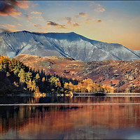 "Buy canvas prints of ""Autumn evening Blencathra"" by ROSALIND RIDLEY"