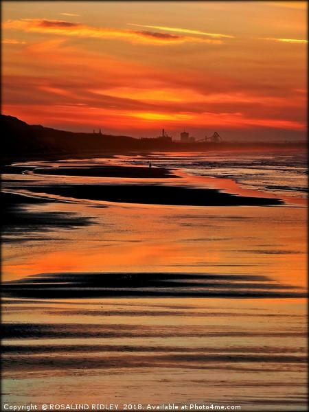 """Portrait of a Saltburn sunset"" Canvas print by ROSALIND RIDLEY"