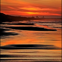 """Buy canvas prints of """"Portrait of a Saltburn sunset"""" by ROSALIND RIDLEY"""