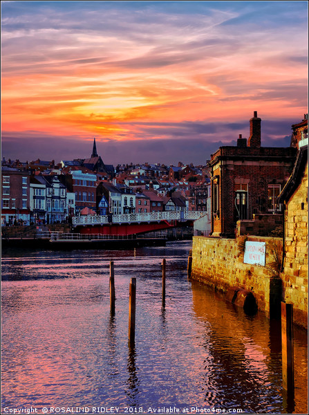 """""""Golden sunset at Whitby"""" Canvas print by ROSALIND RIDLEY"""