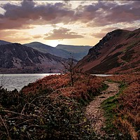 "Buy canvas prints of ""Evening Light at Ennerdale water by ROSALIND RIDLEY"