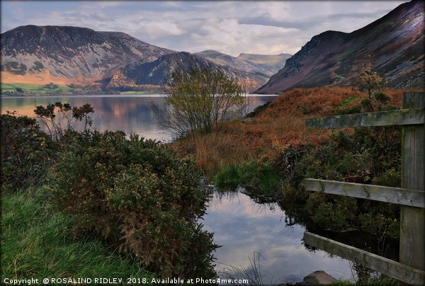 """Sun up at Ennerdale Water"" Canvas print by ROSALIND RIDLEY"