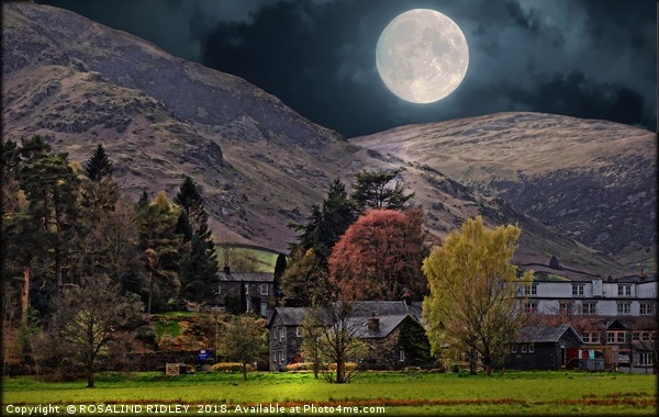 """""""Full moon at Glenridding"""" Canvas print by ROSALIND RIDLEY"""