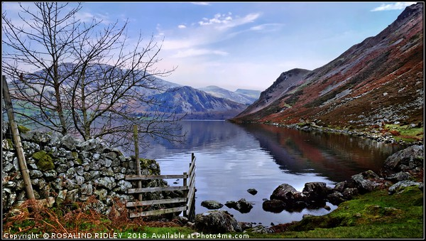"""Blue skies at Ennerdale"" Canvas print by ROSALIND RIDLEY"