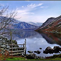 "Buy canvas prints of ""Blue skies at Ennerdale"" by ROSALIND RIDLEY"