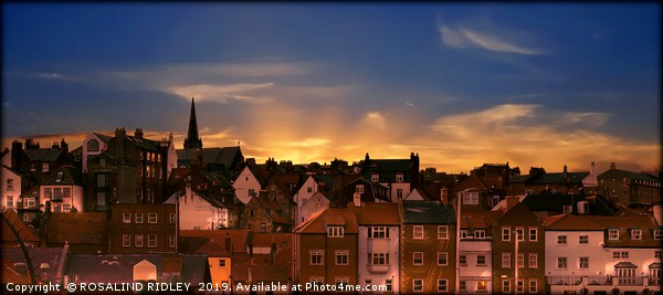 """""""Lighting Up Whitby"""" Canvas print by ROSALIND RIDLEY"""