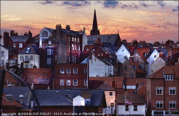 """""""Lighting up Whitby 2"""" Canvas print by ROSALIND RIDLEY"""