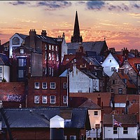 """Buy canvas prints of """"Lighting up Whitby 2"""" by ROSALIND RIDLEY"""