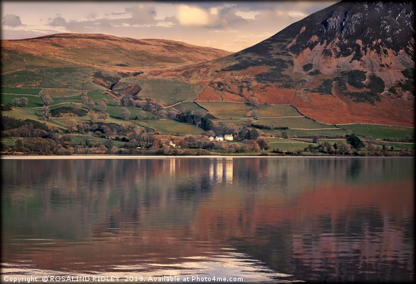 """Reflections at Ennerdale water 2"" Canvas print by ROSALIND RIDLEY"