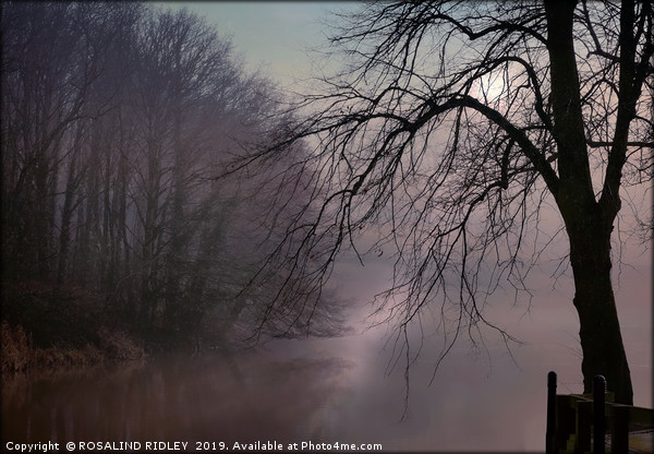 """""""a chink of Light by a misty lake"""" Canvas print by ROSALIND RIDLEY"""