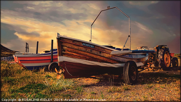 """""""Skinningrove Boats"""" Canvas print by ROSALIND RIDLEY"""