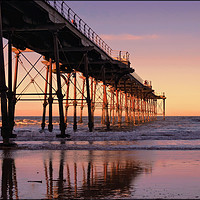 """Buy canvas prints of """"Evening light at Saltburn Pier"""" by ROSALIND RIDLEY"""