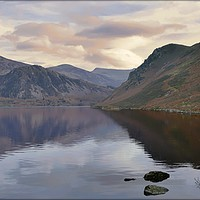 "Buy canvas prints of ""Misty pastel morning at Ennerdale"" by ROSALIND RIDLEY"