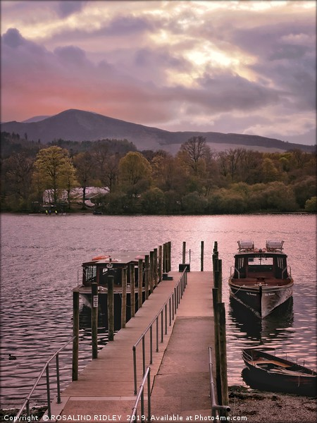 """Derwentwater jetty and boats"" Canvas print by ROSALIND RIDLEY"