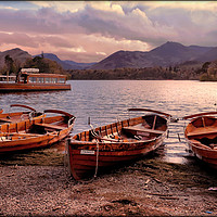 """Buy canvas prints of """"Evening light on Derwentwater"""" by ROSALIND RIDLEY"""