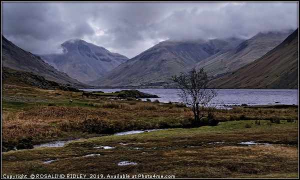 """""""March storms at Wastwater"""" Canvas print by ROSALIND RIDLEY"""