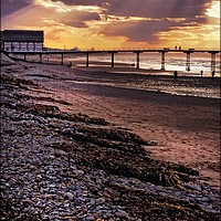 """Buy canvas prints of """"Crepuscular Rays at Saltburn"""" by ROSALIND RIDLEY"""