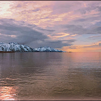 """Buy canvas prints of """"Pastel reflections across an icy sea"""" by ROSALIND RIDLEY"""
