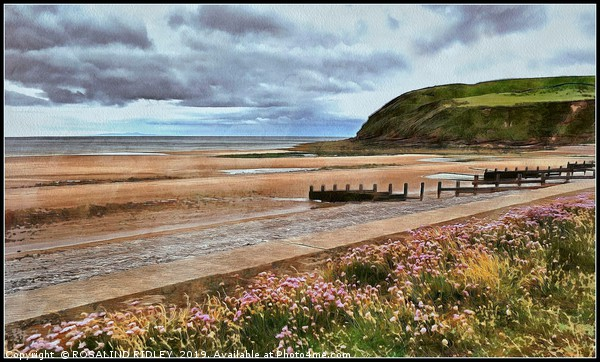 """""""Stormy skies at St.Bees"""" Canvas print by ROSALIND RIDLEY"""