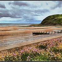 """Buy canvas prints of """"Stormy skies at St.Bees"""" by ROSALIND RIDLEY"""