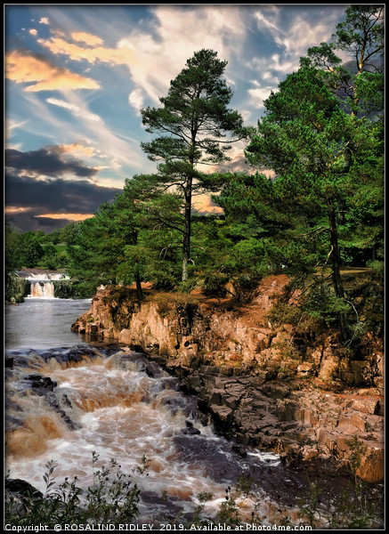 """Low Force waterfall"" Canvas print by ROSALIND RIDLEY"