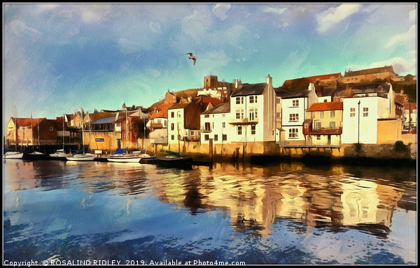 """""""Whitby Harbour"""" Canvas print by ROSALIND RIDLEY"""