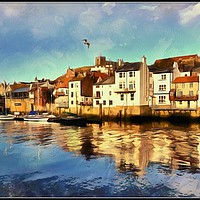 """Buy canvas prints of """"Whitby Harbour"""" by ROSALIND RIDLEY"""