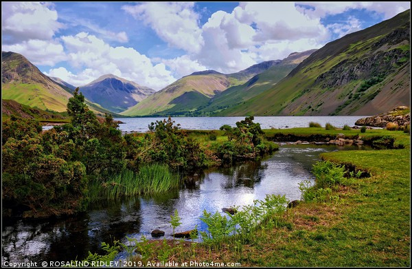 """"""" Reflections at Wastwater"""" Canvas print by ROSALIND RIDLEY"""
