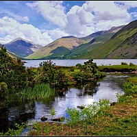 """Buy canvas prints of """" Reflections at Wastwater"""" by ROSALIND RIDLEY"""