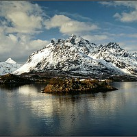 "Buy canvas prints of ""Blue hour Lofoten Islands"" by ROSALIND RIDLEY"