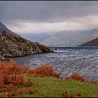 "Buy canvas prints of ""Autumn mists over Wastwater"" by ROSALIND RIDLEY"