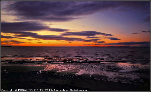 """""""Sunset on the Solway Firth"""" Canvas print by ROSALIND RIDLEY"""