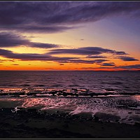 """Buy canvas prints of """"Sunset on the Solway Firth"""" by ROSALIND RIDLEY"""