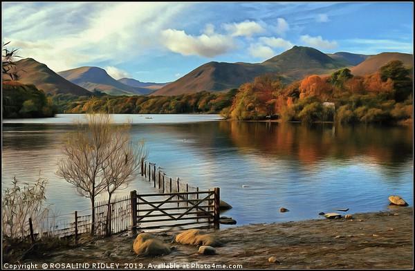 Derwentwater Autumn Canvas print by ROSALIND RIDLEY