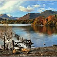 Buy canvas prints of Derwentwater Autumn by ROSALIND RIDLEY