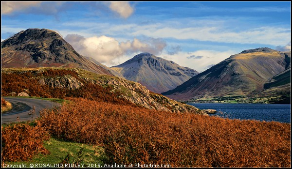 """""""Evening light Wasdale"""" Canvas print by ROSALIND RIDLEY"""