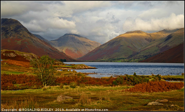 """Autumn evening Wastwater"" Canvas print by ROSALIND RIDLEY"