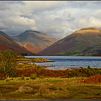 "Buy canvas prints of ""Autumn evening Wastwater"" by ROSALIND RIDLEY"
