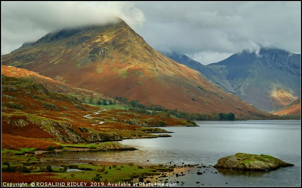 """Clouds descend on Yewbarrow and Great Gable"" Canvas print by ROSALIND RIDLEY"