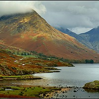 "Buy canvas prints of ""Clouds descend on Yewbarrow and Great Gable"" by ROSALIND RIDLEY"