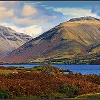 """Buy canvas prints of """"Mountains at Wastwater"""" by ROSALIND RIDLEY"""